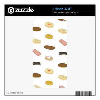 biscui - biscuit pattern iPhone 4 decal