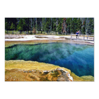 """Biscuit Basin Hot Springs - Yellowstone National P 5"""" X 7"""" Invitation Card"""