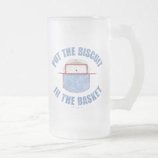 Biscuit Basket (Hockey) Frosted Glass Beer Mug