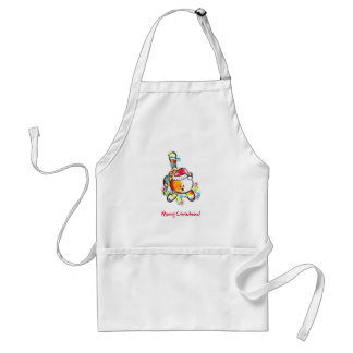 Biscuit Christmas Lights Adult Apron
