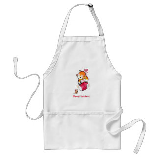 Biscuit Christmas Stocking Adult Apron