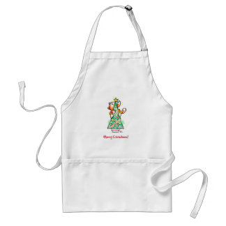 Biscuit Christmas Tree Adult Apron