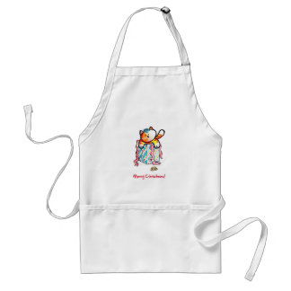 Biscuit Gift Wrapped Parcel Adult Apron