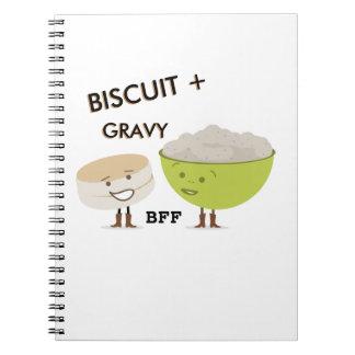 Biscuit + Gravy BFF Funny Spiral Notebook