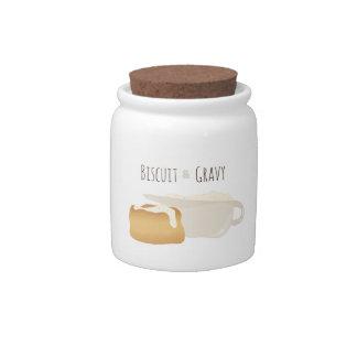 Biscuit & Gravy Candy Jars