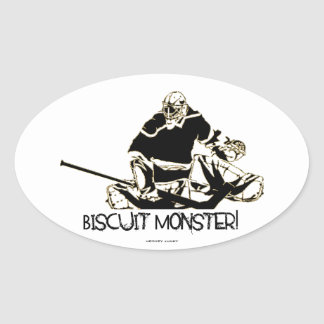 BISCUIT MONSTER! OVAL STICKER