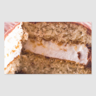 Biscuit with chocolate and a layer of milk souffle rectangular sticker