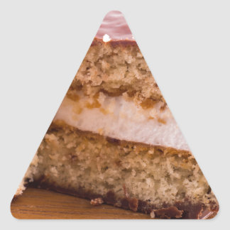 Biscuit with chocolate and a layer of milk souffle triangle sticker