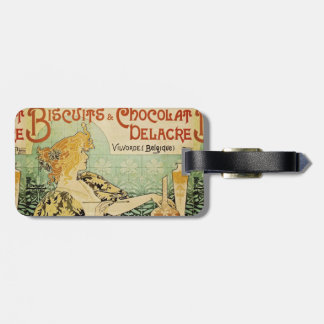 Biscuits and Chocolat Delacre Luggage Tag