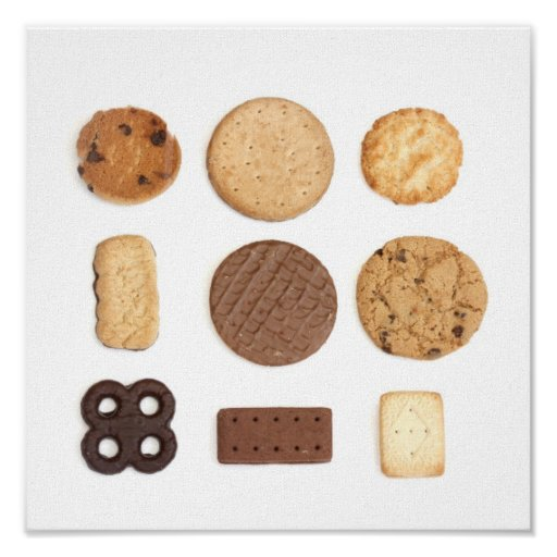 biscuits and cookies canvas poster print