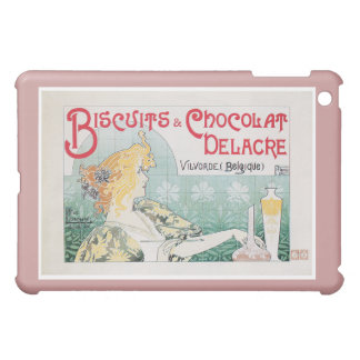 Biscuits Chocolate Vintage Food Ad Art iPad Mini Covers