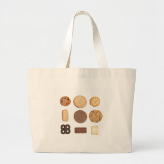 biscuits large tote bag