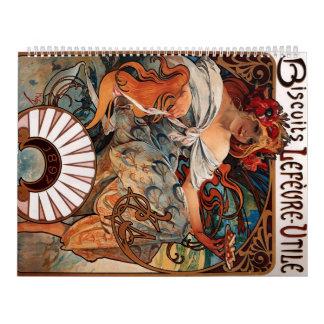 Biscuits Lefevre Utile - Alphonse Mucha Calendar