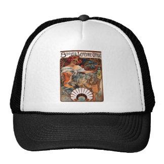 Biscuits Lefevre Utile by Alphonse Mucha Trucker Hat