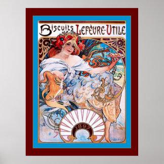 Biscuits Lefèvre-Utile ~ Vintage Advertising Poster