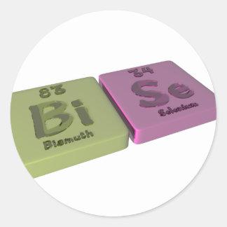 Bise as Bi Bismuth and Se Selenium Classic Round Sticker