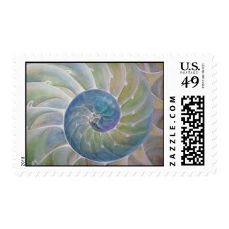 Bisected Chambered Nautilus Postage