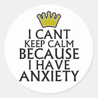Biselo guardo calma porque tengo ansiedad pegatina redonda