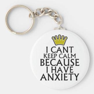 Biselo guardo calma porque tengo ansiedad Tshirts. Llavero Personalizado