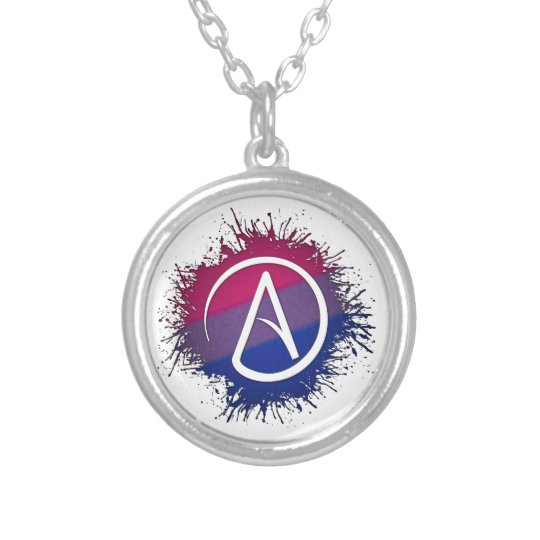 Bisexual atheist silver plated necklace zazzle bisexual atheist silver plated necklace aloadofball Choice Image