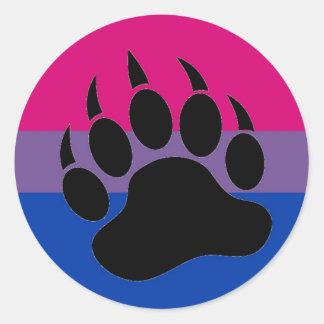 Bisexual Bear Pride Classic Round Sticker