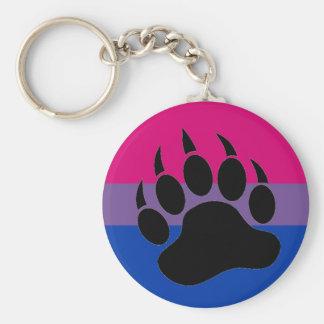Bisexual Bear Pride Keychain