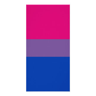 Bisexual Bi Pride Flag Personalized Photo Card