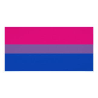 Bisexual Bi Pride Flag Photo Card