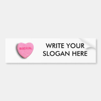 Bisexual Candy Heart Car Bumper Sticker
