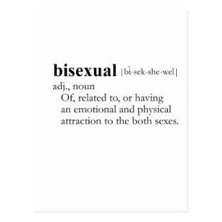 BISEXUAL (definición) Postales
