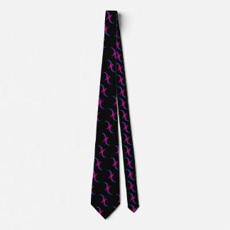 Bisexual double moons neck tie