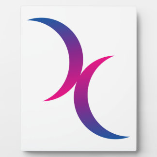 Bisexual double moons photo plaque