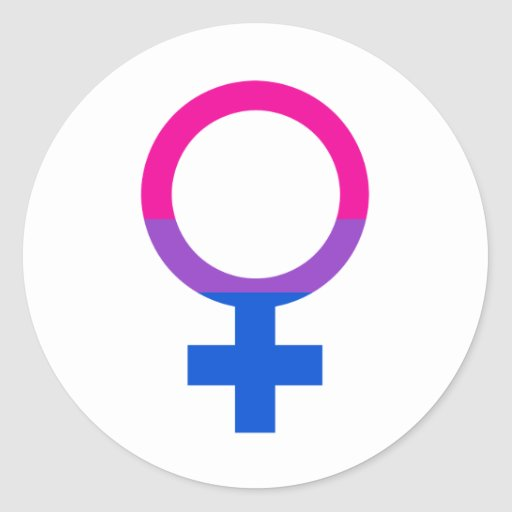 Bisexual Female Pride Symbol Sticker