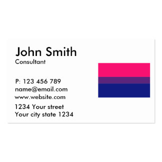 Bisexual flag business card