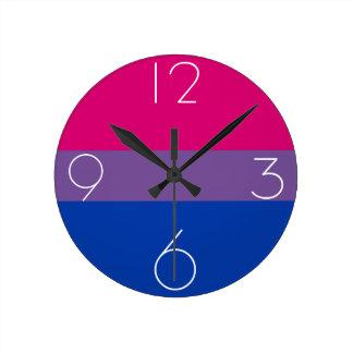 Bisexual flag clock