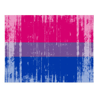 BISEXUAL FLAG DISTRESSED -.png Post Cards