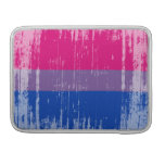 BISEXUAL FLAG DISTRESSED -.png Sleeve For MacBooks