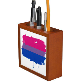 BISEXUAL FLAG DRIPPING Pencil/Pen HOLDER