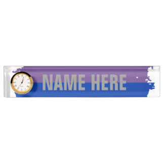 BISEXUAL FLAG DRIPPING DESK NAMEPLATES