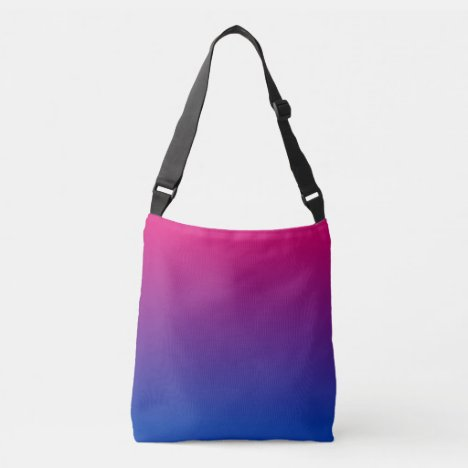 Bisexual Flag Gradient Crossbody Bag