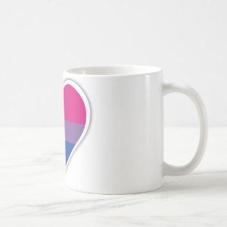 Bisexual flag heart coffee mug