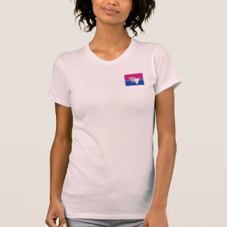 BISEXUAL FLAG ORIGINAL WITH SYMBOL TEE SHIRTS