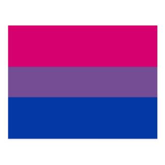 Bisexual flag postcard