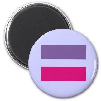 bisexual gay de la igualdad de la boda del símbolo imán redondo 5 cm