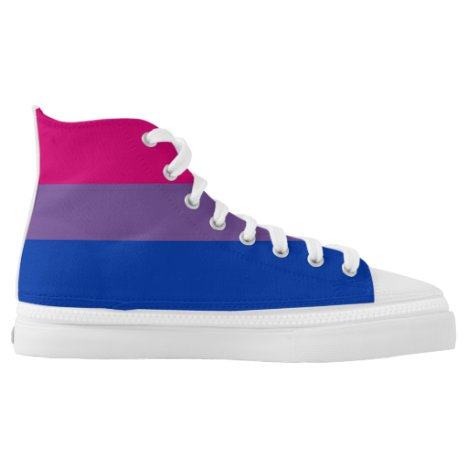 bisexual gay pride flag symbol High-Top sneakers