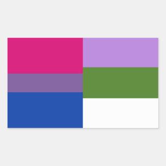 Bisexual/genderqueer flag stickers
