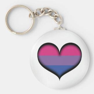 Bisexual Heart Keychain