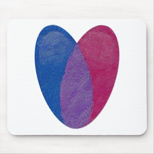 Bisexual Heart Mouse Pad