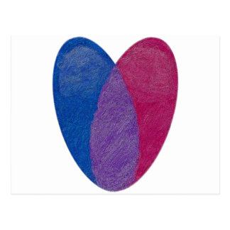 Bisexual Heart Postcard
