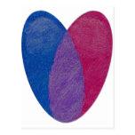 Bisexual Heart Postcards